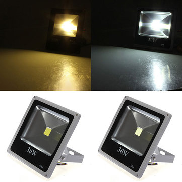30W Gray Ultra Thin IP65 Waterproof Aluminum Flood Light 85-265V
