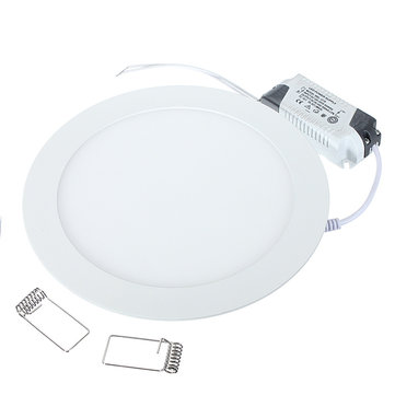 15W Round Ceiling Ultra Thin Panel LED Lamp Down Light Light 85-265V