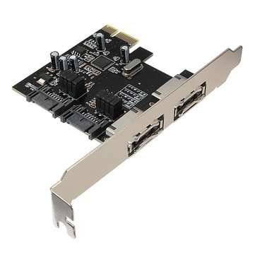 PCI-E PCI Express to 2 SATA 2 ESATA Adapter Card PCI-E Expansion Card