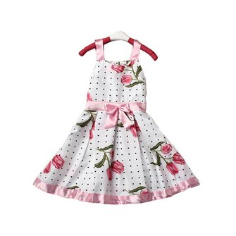 Girls Kid Tutu Princess Sleeveless Dress Ribbon Bow Floral Outfit