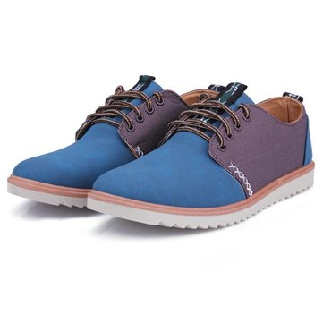 Mens Casual European Style Suede Stitch Shoes