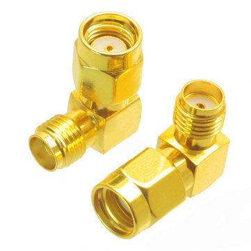SMA Female to RP-SMA Male Right Angle Adapter Connector For RC Drone