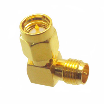 SMA Male to RP-SMA Female Right Angle RF Adapter Connector For RC Drone
