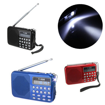 T508 LED Stereo FM Radio Speaker USB TF Card MP3 Music Player
