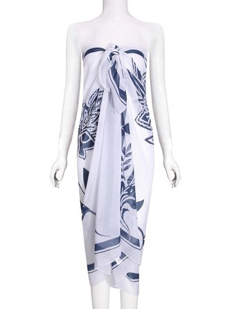 Blue And White Porcelain Printing Chiffon Beach Towels Beach Clothes