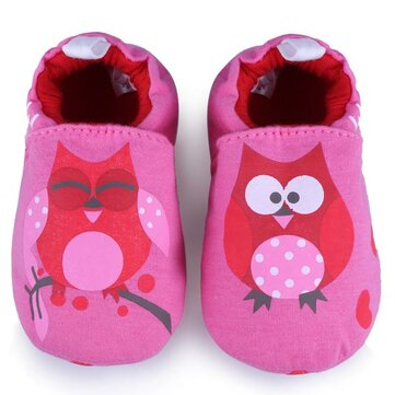 Baby Cartoon Owl Prewalker Shoes Infant Soft Learning Footwear