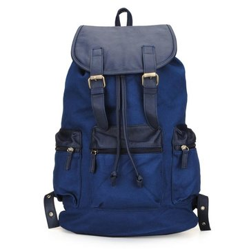Mens Korean Canvas Large Capacity Vintage Shoulder Backpack