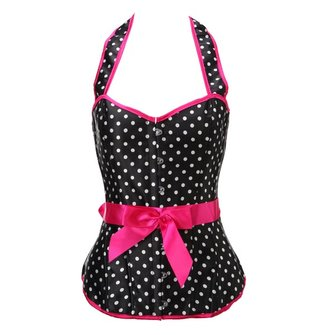 Fashion Dot Pattern Strap Corset Bustier