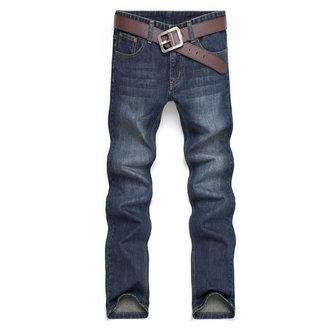 Men's Cotton Straight Jeans Fashion Acid Washed Jeans