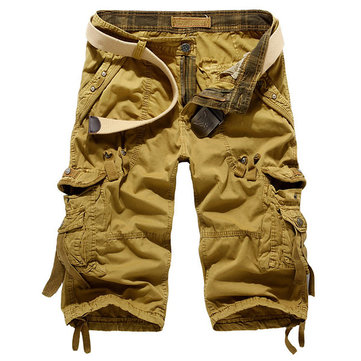 Men's Multi Pokets Loose Fit Cargo Short Pants