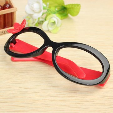 Girls Kids Cute Flower Eyewear Glasses Frame Without Lenses