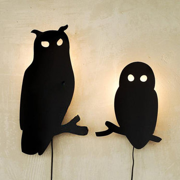 Modern Decoration Fashion Personalized Owl Wall Lamp Light