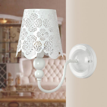Fashion Rustic Brief Carved Wall Lamp For Bedroom Aisle Lighting
