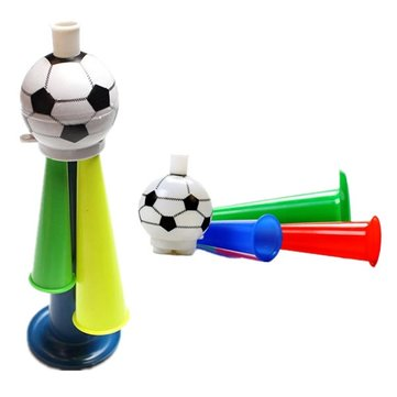 10 Plastic Horn Fans Horn 3 Tones Whistle Football Horn