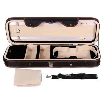4 / 4 violion Caja Estuche de violín con humedad cuadro correas cerraduras a prueba de agua