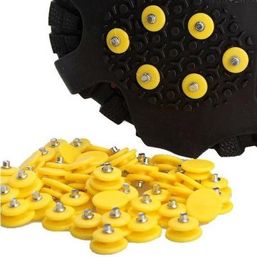 10Pcs Anti Slip Shoes Spikes Crampon Ice Grips