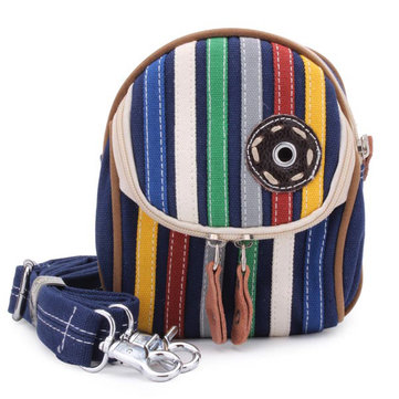 Fashion Unisex Causal Colorful Striped Waist Bag Cross Body Bag