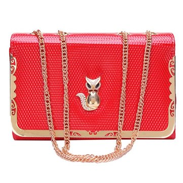 New Fashion Women Fox Chain Shoulder Bag Cross Body Bag