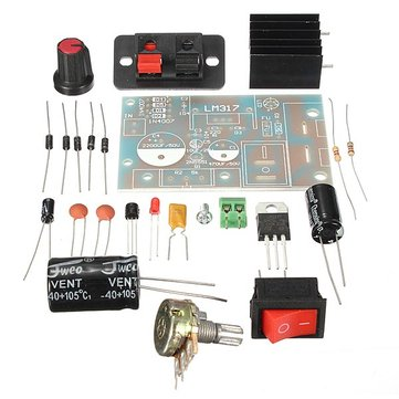DIY LM317 Adjustable Regulated Voltage Module Suite Kit DC/AC Input