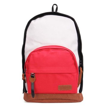 Women Canvas Colorful Backpack Schoolbag Shoulder Bag