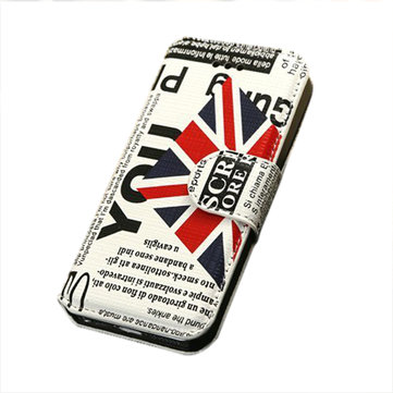 Ultra Thin National Flag Pattern Stand Case For iPhone5 5S