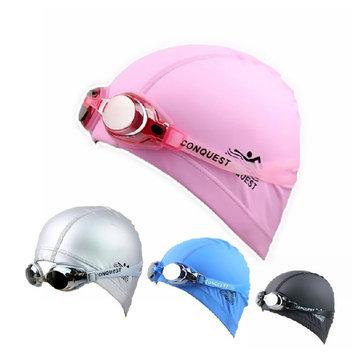 Regolabile Anti Nebbia Nuoto Occhiali Occhiali + Set Cap Cappa