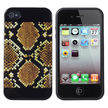 Snake Skin Pattern TPU Defender Soft Cover Case For iPhone4 4S
