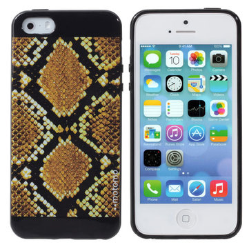 Snake Skin Pattern TPU Soft Defender Cover Case Voor iPhone5 5S