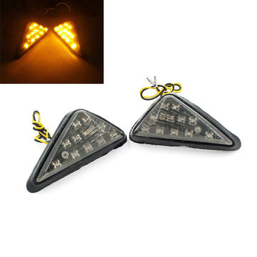 Motorcycle Motor Bike Turn Signal Triangular Steel Ring lamp Amber