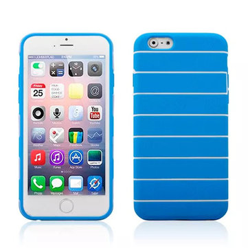 Stripe PC Gel Skin Protective Soft Cover Case For iPhone 6