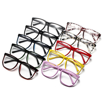 Unisex Retro Plastic Big Black-rimmed Clear Lens Plain Glasses