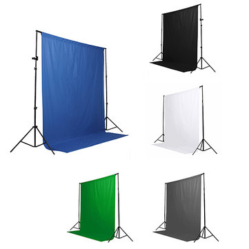 Black White Blue Green Chromakey Backdrop 6x9 Muslin Video Background