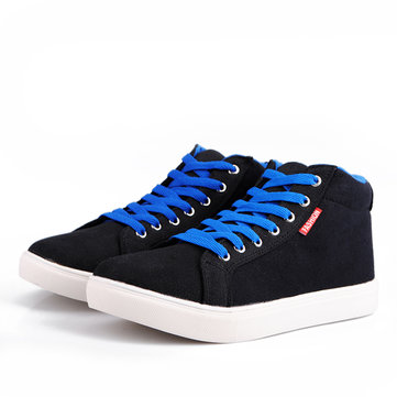 Mens stelle pattini Sole Top sneakers blu nero