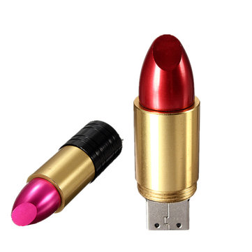 16GB Cute Lipstick Model USB 2.0 Memory Flash Drive Pen U Disk