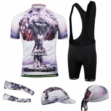 Велосипед Велоспорт костюм Джерси нагрудник шорты носить рубашку мужчин атом