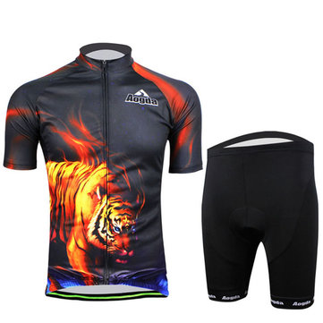 Cycling Suit Bicycle Bike Wear Men Shirt and Shorts Tiger