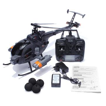 Fx070c 2.4G 4 CH Giroscopio de 6 Ejes para Helicóptero RC de Escala MD500 Flybarless
