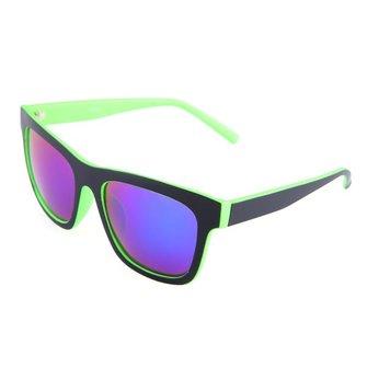 Mens Women Green Red Frame Coating Resin Frame UV400 Sunglasses