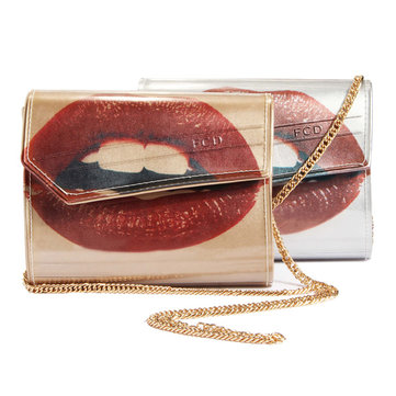 Personality PU Leather Lip Design Chain Shoulder Bag Crossbody Bag