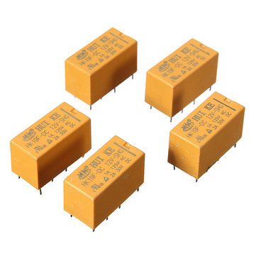 10Pcs HK19F DC 12V SHG Coil DPDT 8 Pin Mini Power Relays PCB Type