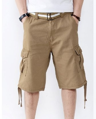 Mens Fashion Pockets Pants Denim Cargo Shorts