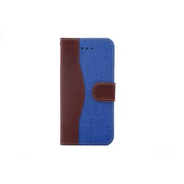 Denim Fabric PU Leather Protective Case Cover For iPhone 6