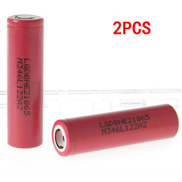 2PCS ICR18650HE2 2500mAh 3.6v 30A Rechargeable Li-ion Battery