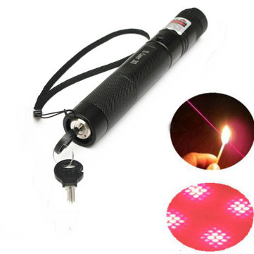 G303 Adjustable Focus 650nm 5mw Red Laser Pointer+Light Star Cap