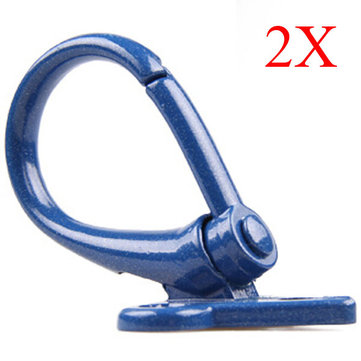 Blue Motorcycle Luggage Hooks Aluminum Scooter