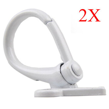 White Motorcycle Luggage Hooks Aluminum Scooter