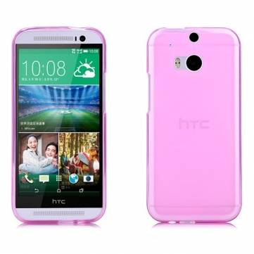 Protective Bright Soft TPU Pudding Back Case For HTC M8