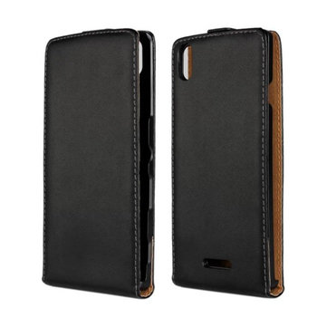 Up-Down Flip Leather Protective Case For Sony Xperia T3 M50W