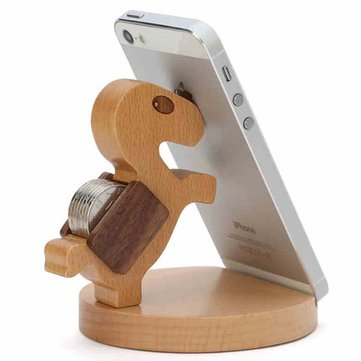 Original Chuxin Lovely Wooden Pony Stand Holder For Cell Phone