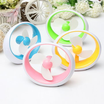 Mini Portable USB Battery Soft Fan Blade Desktop Cooling Fan